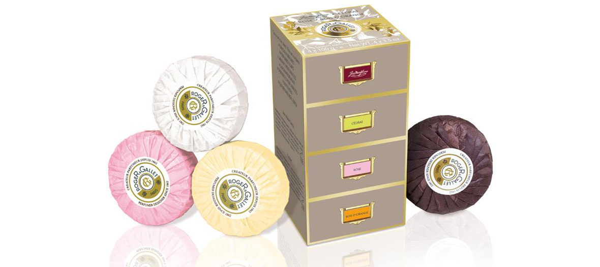 Box of scented soaps Roger & Gallet