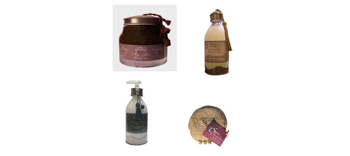 Les Sens de marrakech bath products
