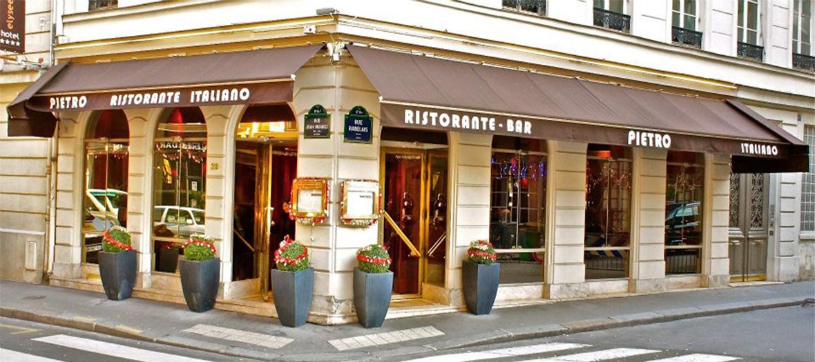 Devanture du restaurant Pietro