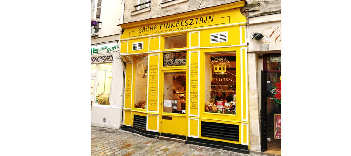 Façade de la boutique jaune