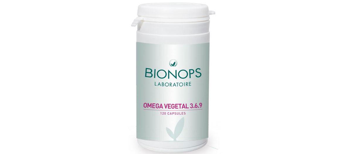 bottle of pills Oméga 3 6 9 Bionops