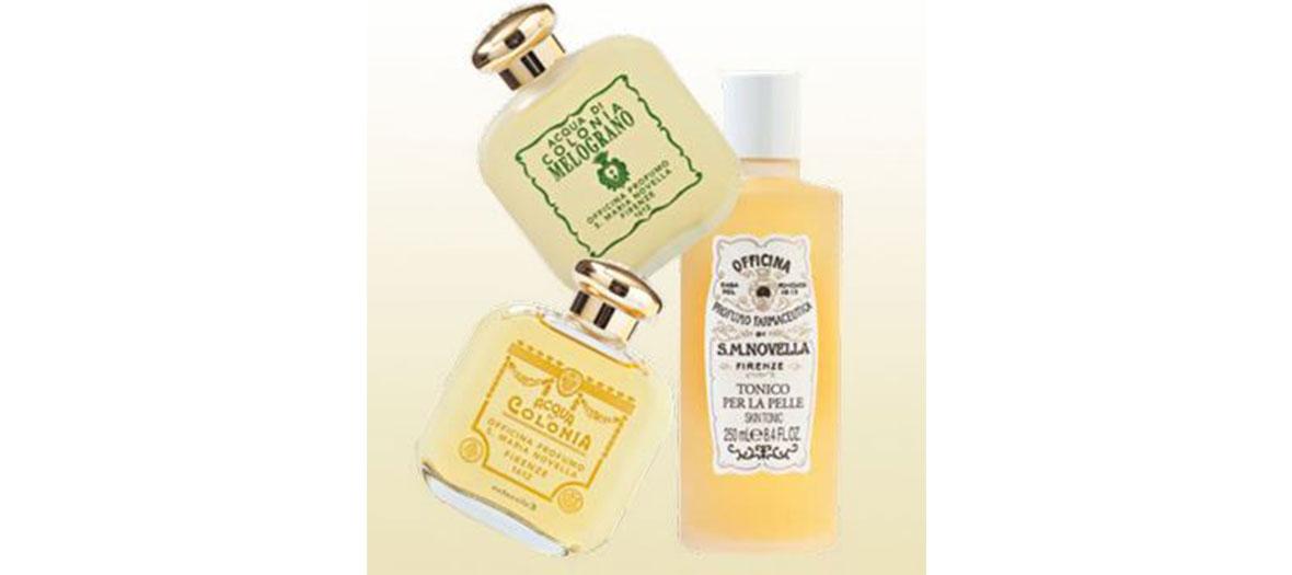 Trois bouteilles de parfums Santa maria Novella
