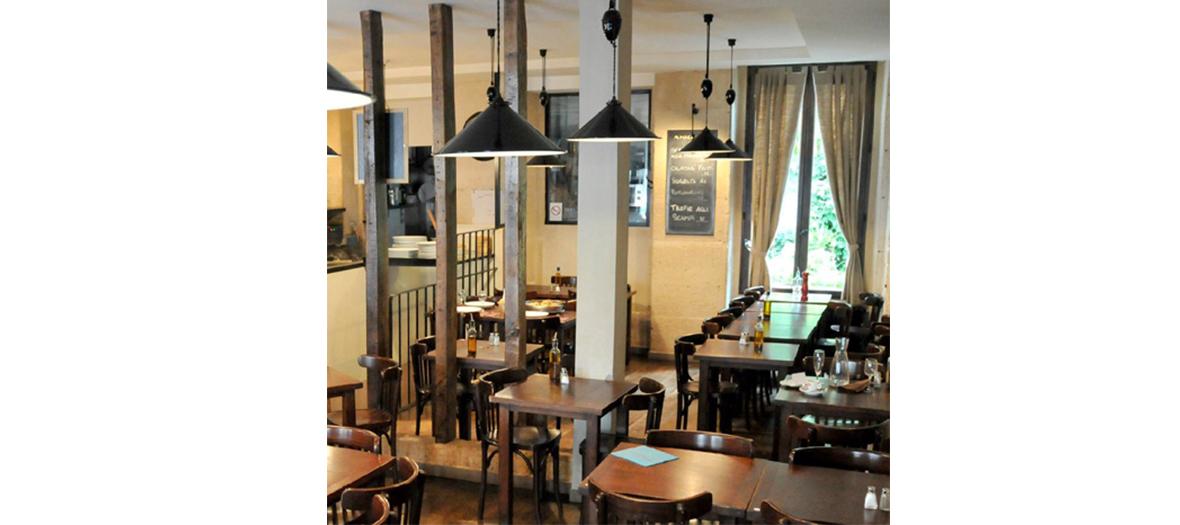 Salle de restaurant d'Amici Miei