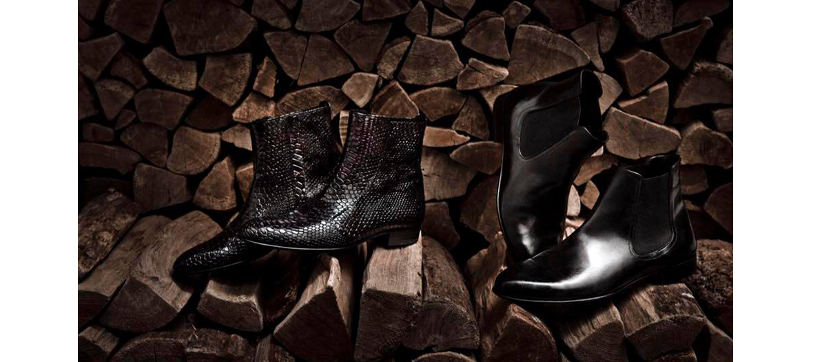 Philippe Zorzetto black leather boots for men