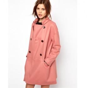 Asos Un Manteau Tres Pink