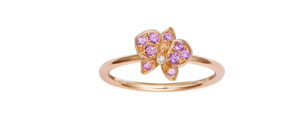 Bague en or rose, saphirs et diamants Cartier