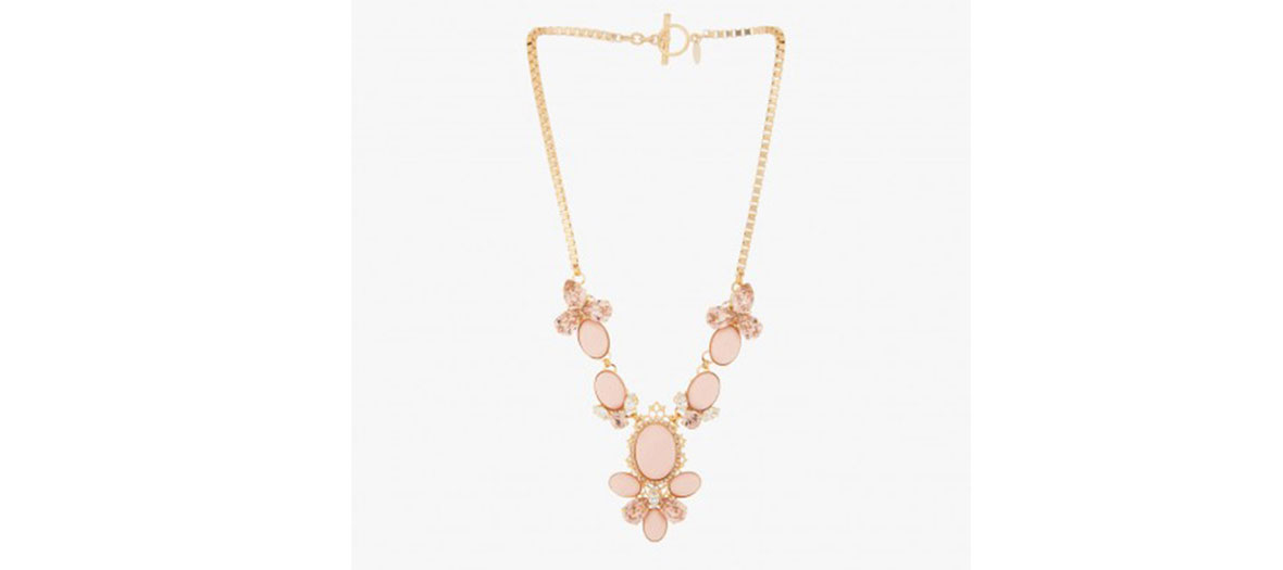 Collier cabochone t strass en maille carrée Anton Heunis