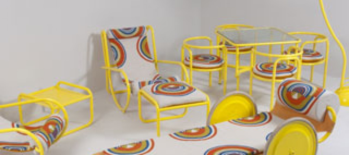The furniture from the film La Piscine for sale !