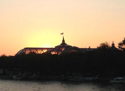 Vue depuis le Rosa bonheur sur Seine