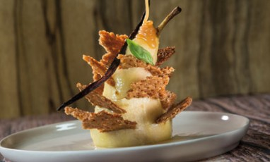 The famous Porcupine pear salty butter caramel of Top Chef