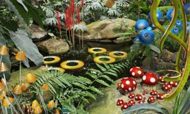 Flânerie arty dans un jardin enchanté