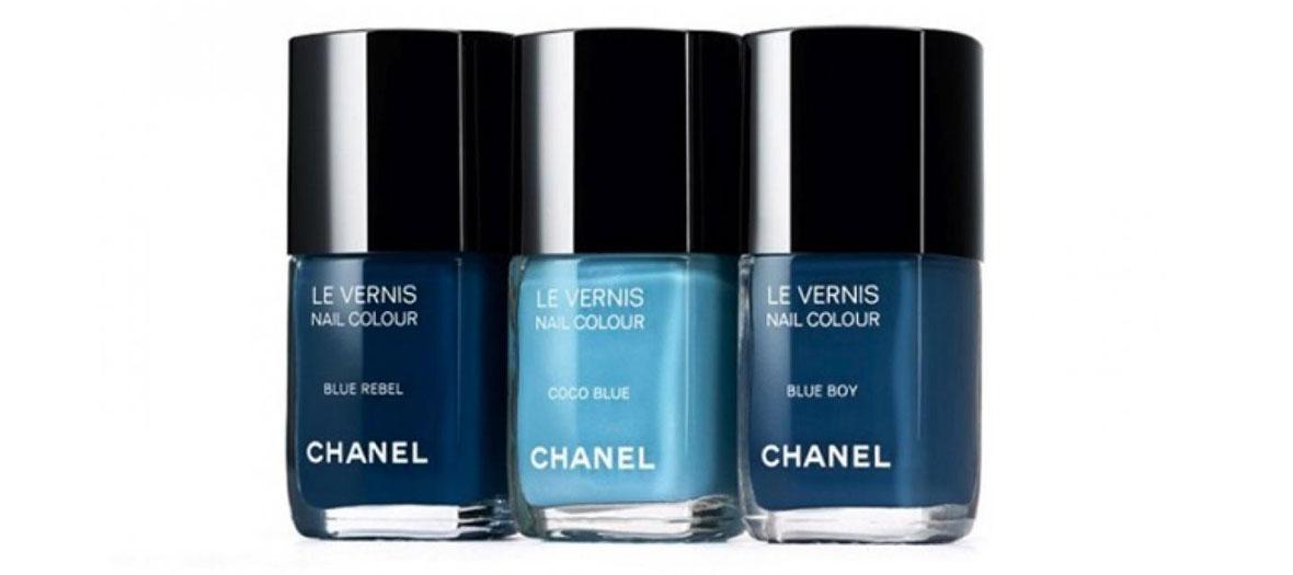 Trio de vernis bleu par Chanel