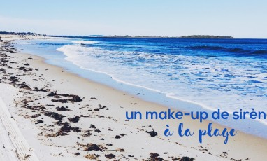 Un make-up de sirène à la plage