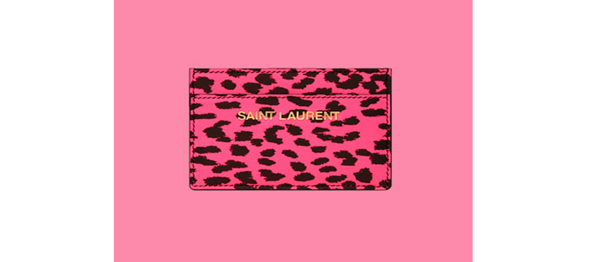 "Porte-cartes imprimé ""baby cat"" Yves Saint Laurent"