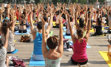 Really chill yoga at Wanderlust