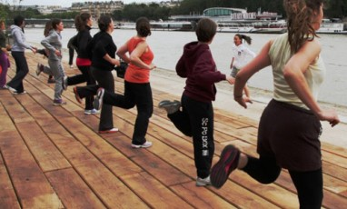 A really sporty running course along the waterfront