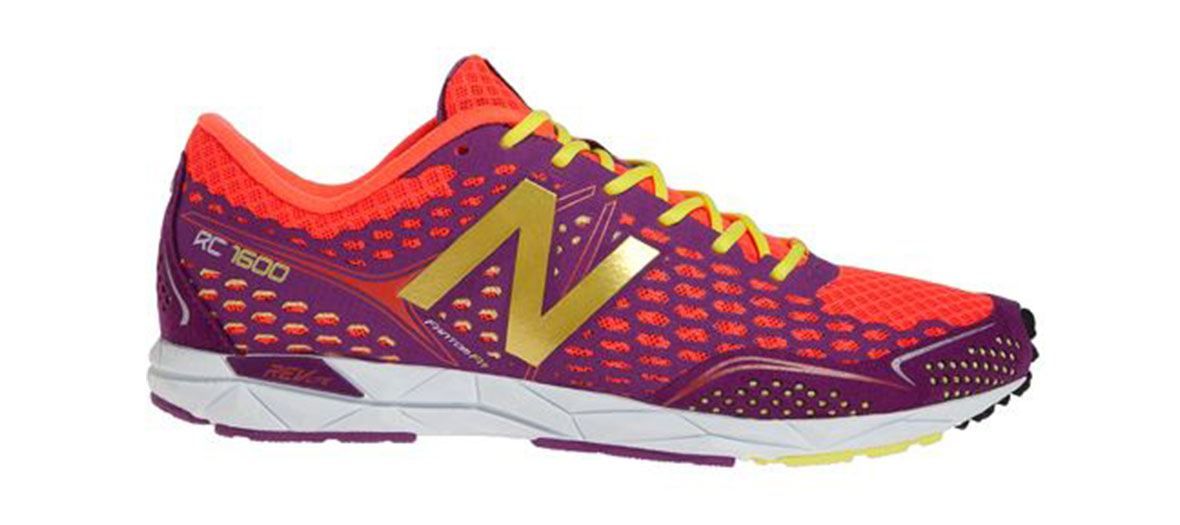 Pair of flashy New Balance sneakers