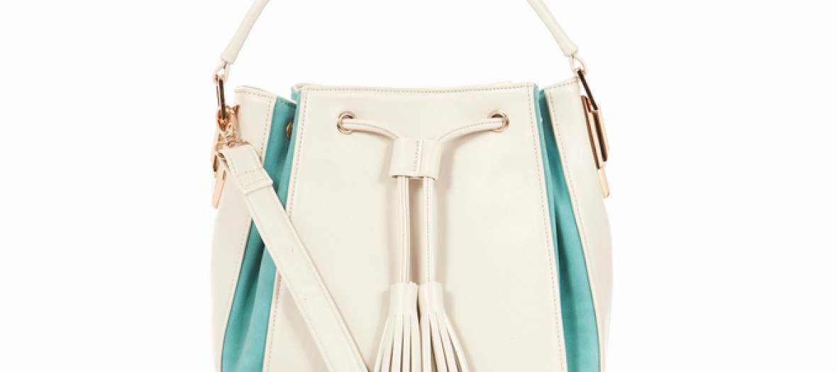 Cream Bag With Turq Sides And Tassels 17 99 22 99