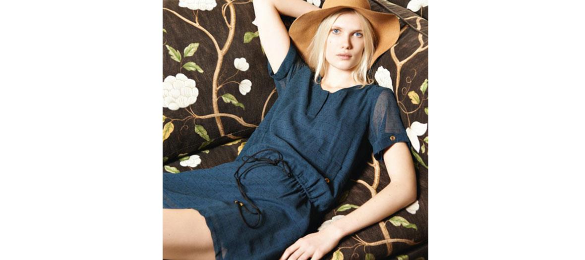 Robe bleue Ginette Jolie Jolie