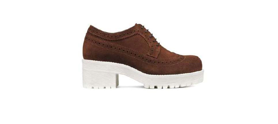 Leather derbies brown and white San Marina
