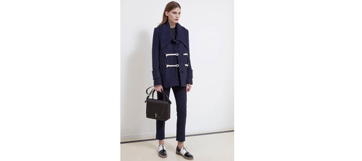 Wool navy blue coat Carven
