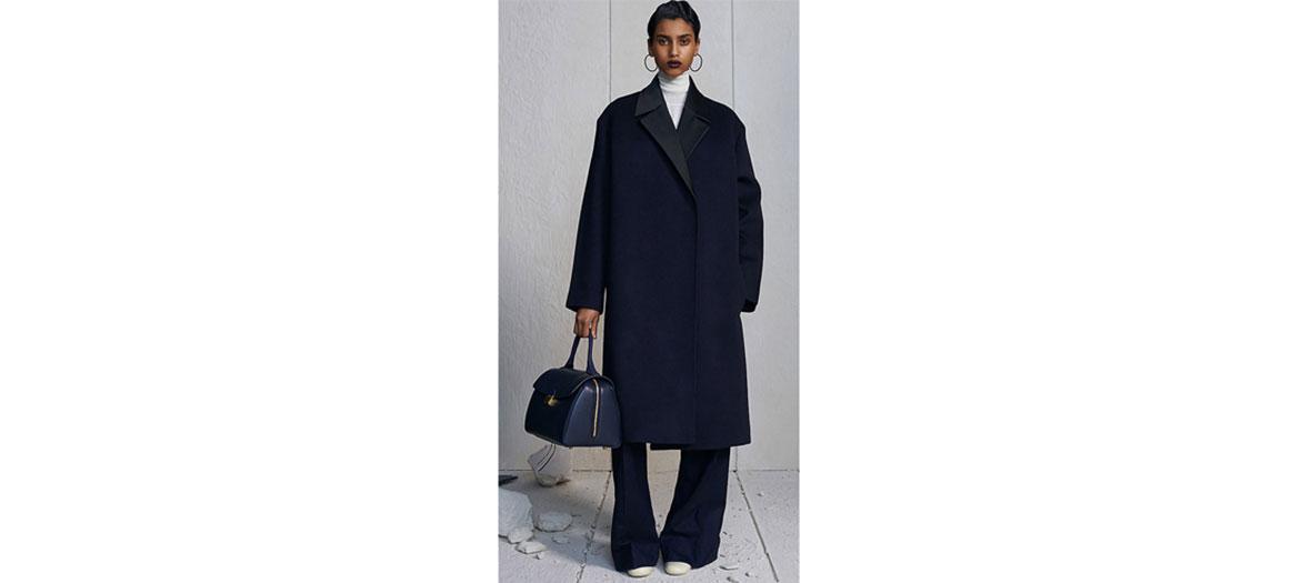 Oversize cashmere coat by Céline