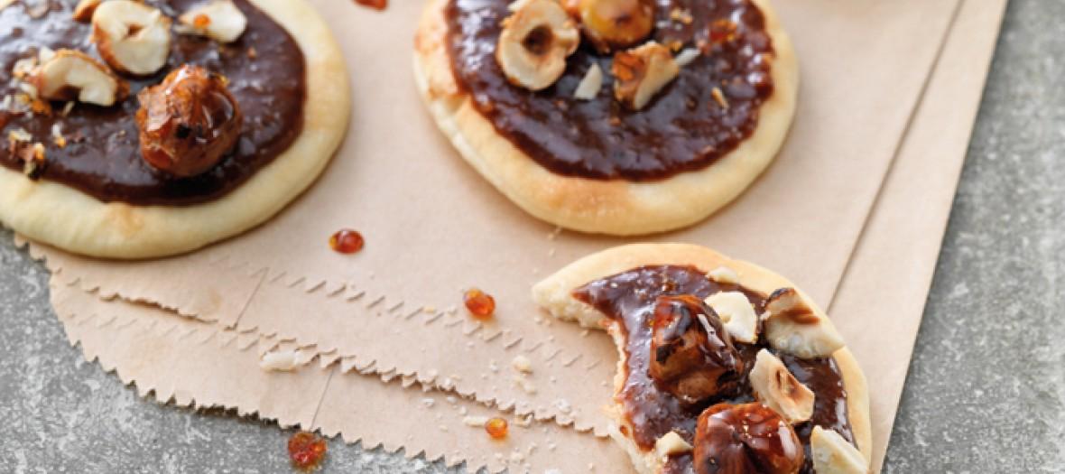 Pizzettes Chocolat Et Noisettes Caramelisees