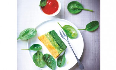 Three-color vegetable terrine