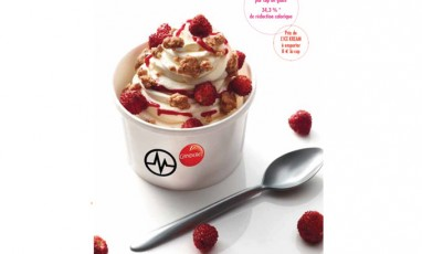 Frozen yogurt signed Michalak
