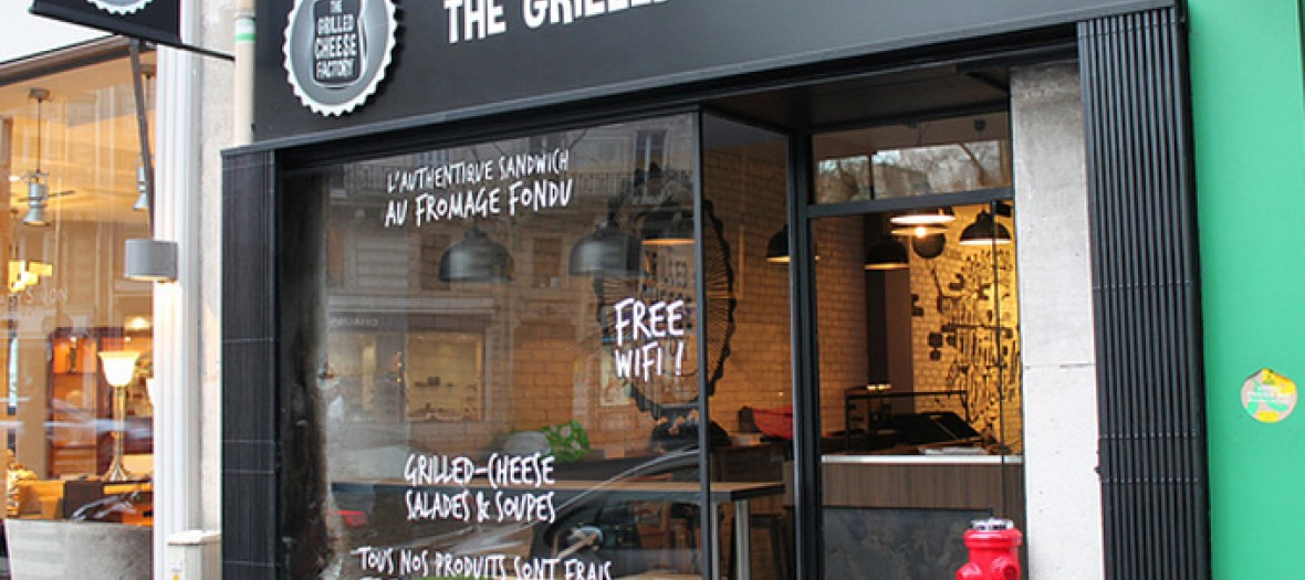 Outdoor the grilled cheese factory