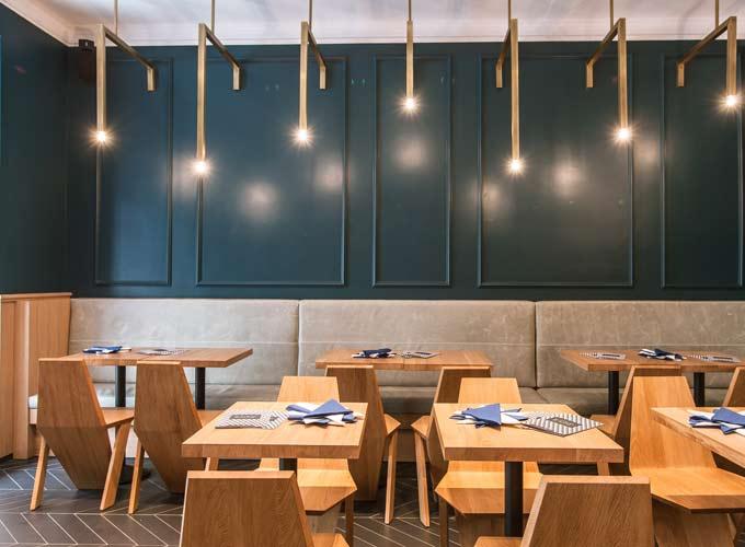 Grignoter ou se faire livrer des sublimes pizzas bottega for Best color for restaurant interior