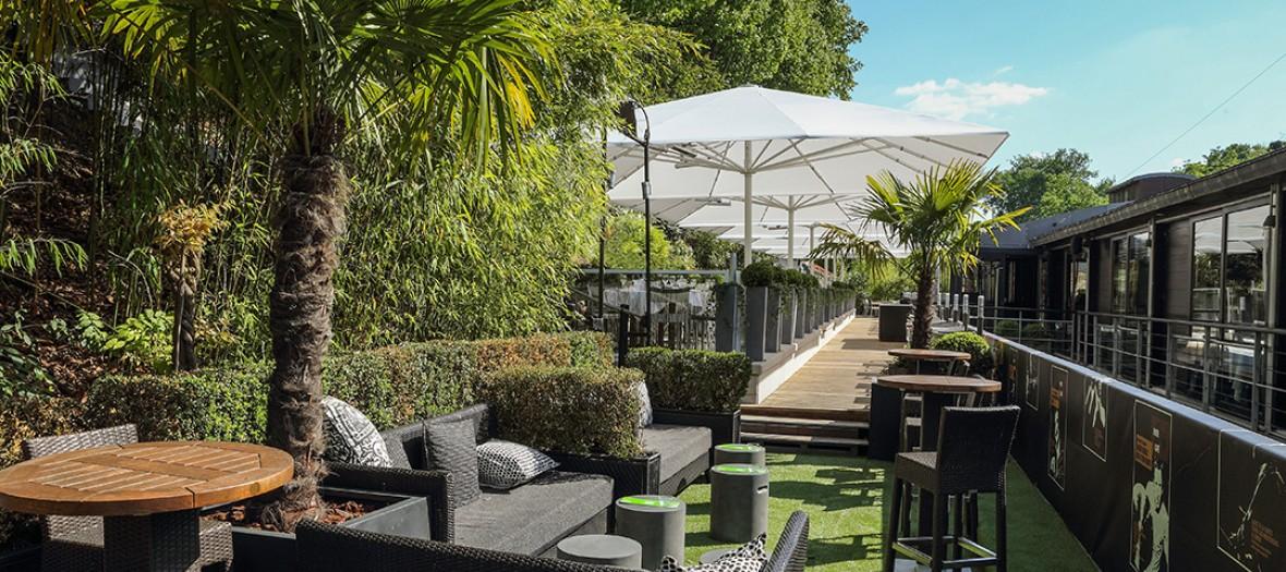 Garden cafe terrasse
