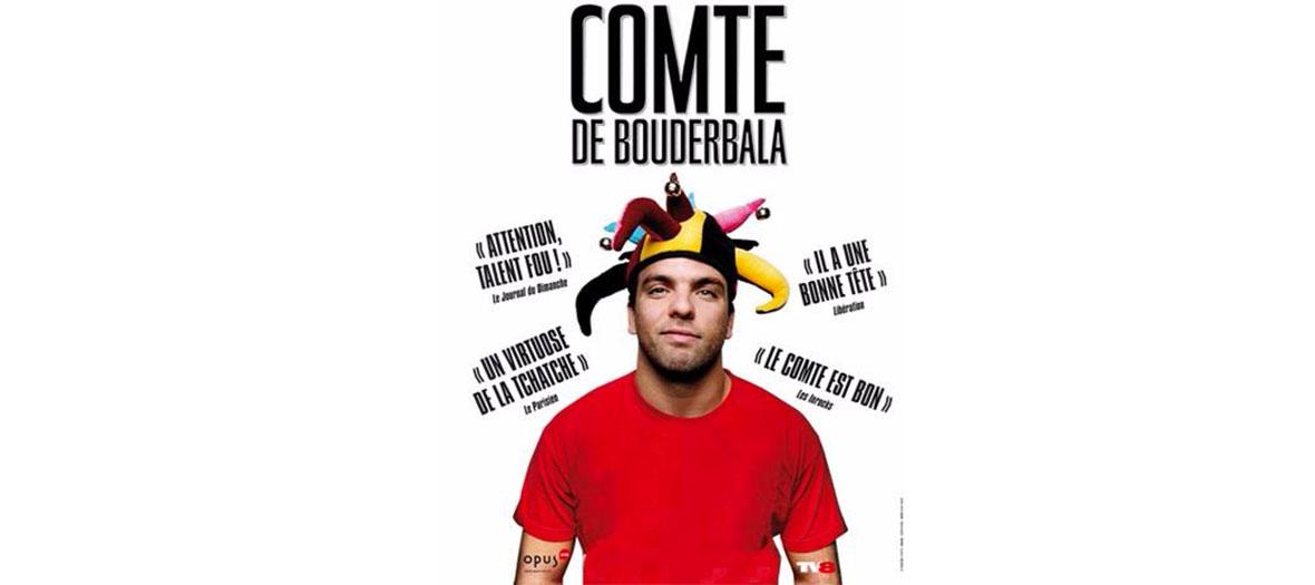 Affiche de la pièce le Comte de Bouderbala