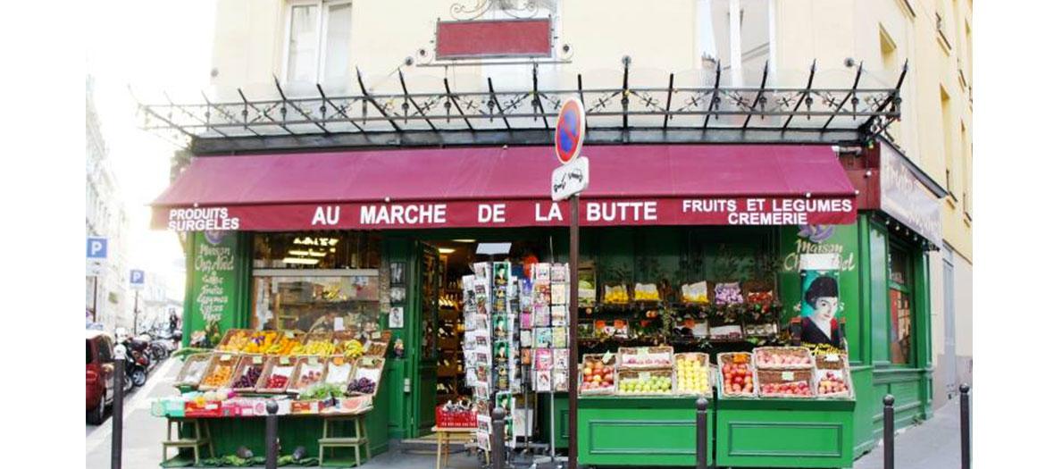 Storefront of le Marché de la butte