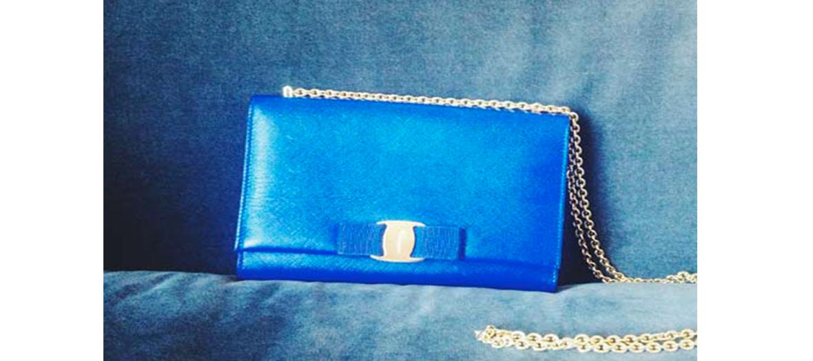 Ferragamo blue bag