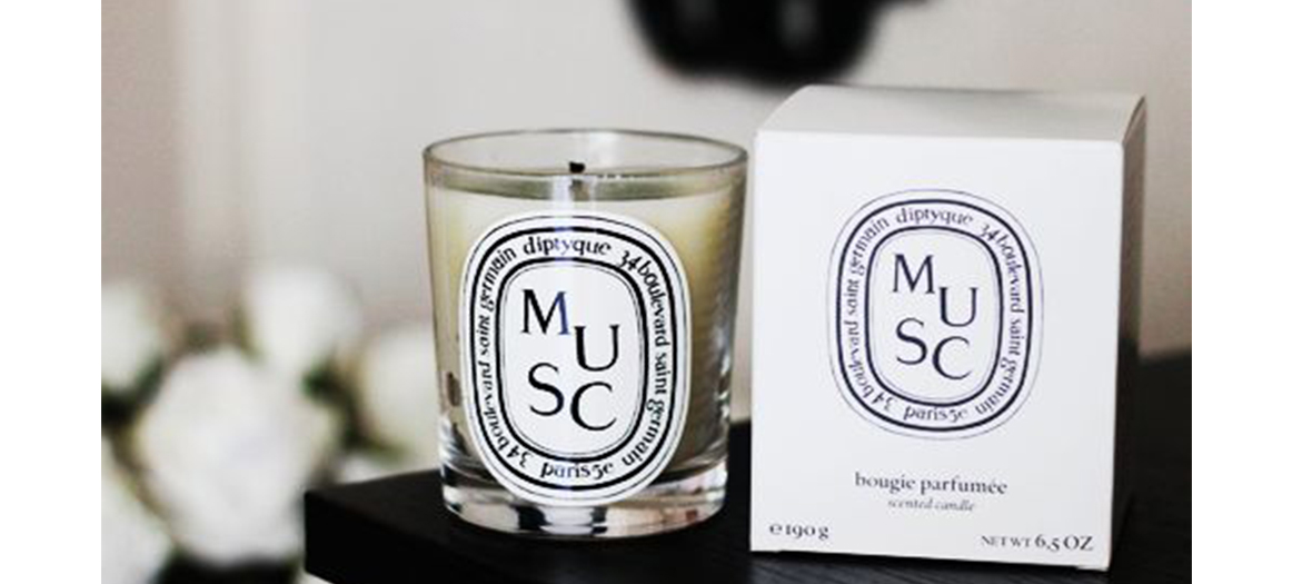 Musk candles by Diptyque