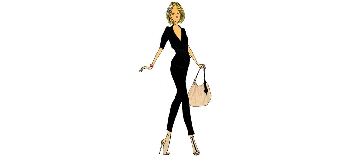 Woman in a black jumper