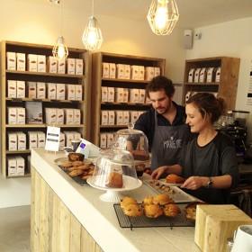 Interieur du coffee shop Marlette, simple et efficace