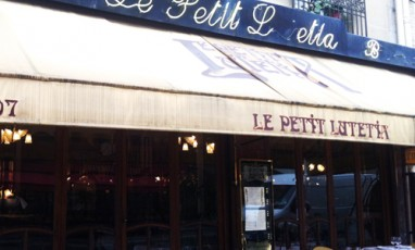 Outside view of a traditional and delicious restaurant of Le Petit Lutetia