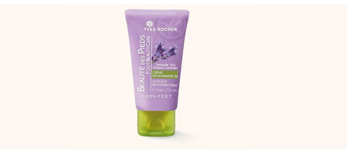 Deodorizing cream for feet by Yves Rocher