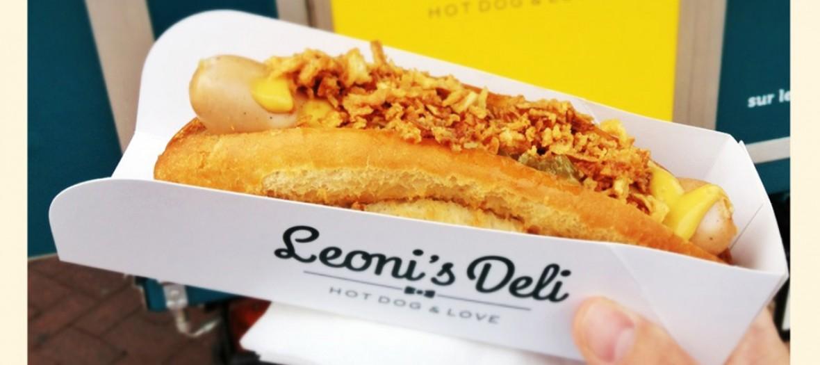 Hot dog Leoni's dans son emballage