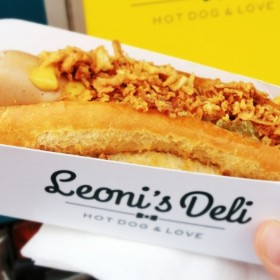 Hot dog Leoni's dans son emballage