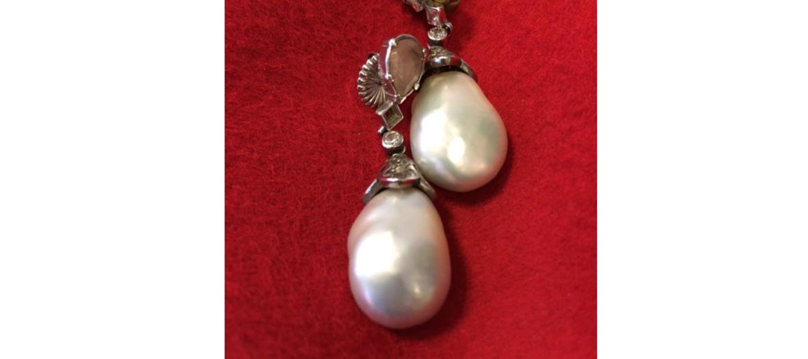 Bocules d'oreilles perle