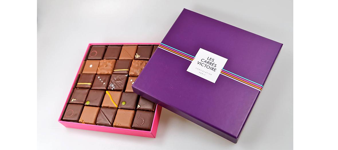 Boîtes de chocolat Les carrés Victoire