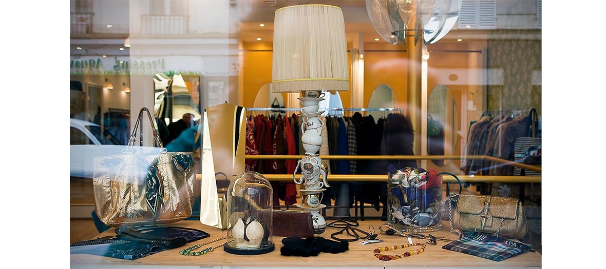 Vitrine de la boutique Violette & Léonie