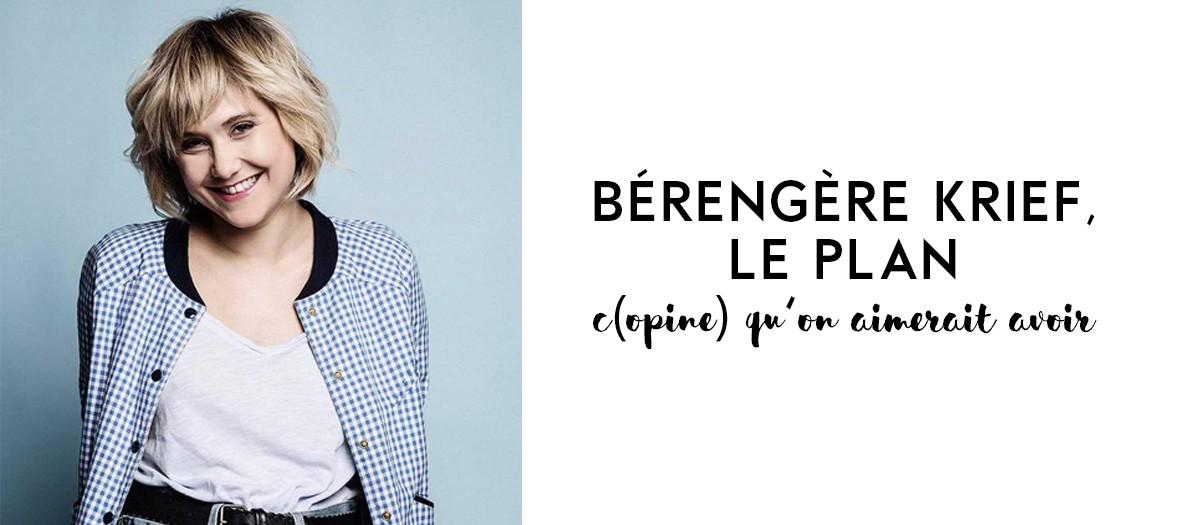 Portrait de l'humoriste Bérengère krief