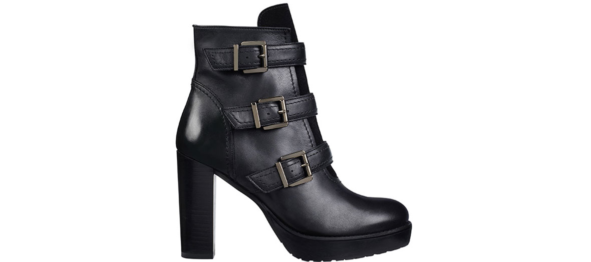 Boots noirs en cuir Minelli