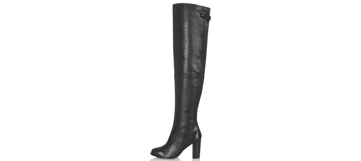 Black leather boots Topshop