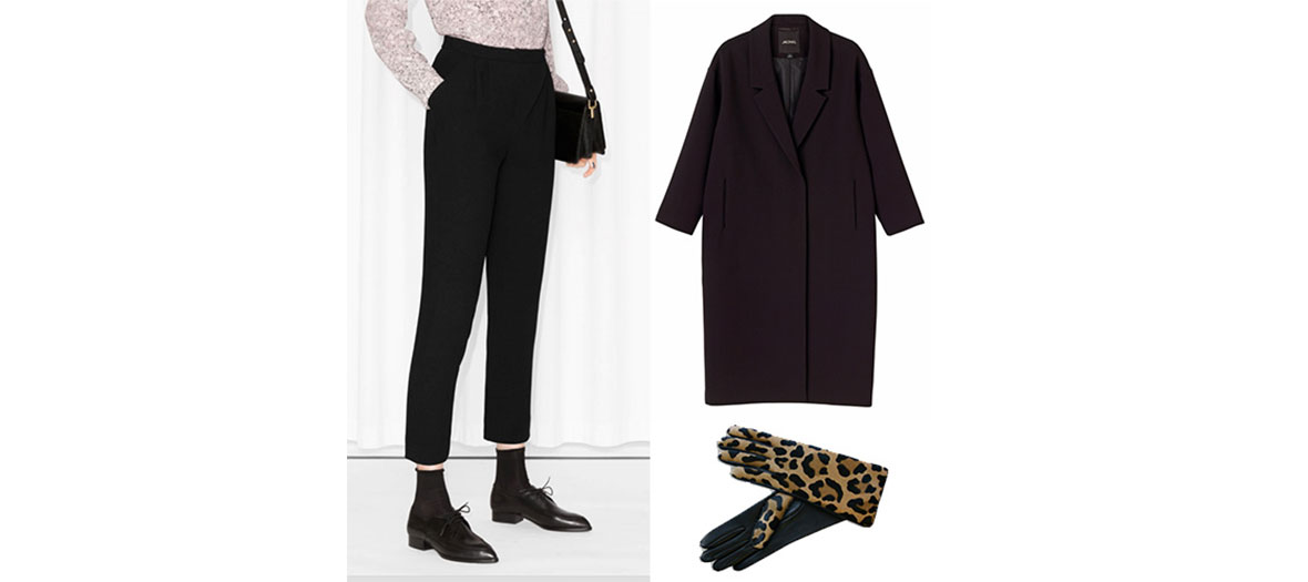 Pantalon &Other stories, chaussures 1Other Stories, manteau Monki, gants Causse