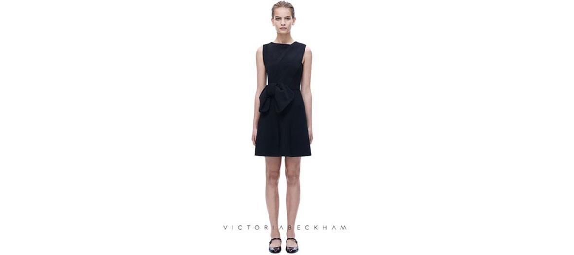 Robe noire avec drapé Victoria Beckham